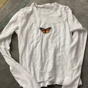 Brandy melville butterfly long sleeve